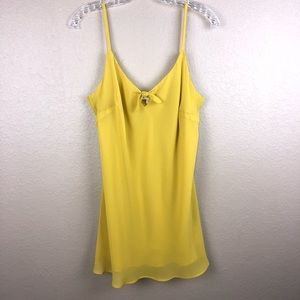 Cabi Yellow Large Front Tie Cami Tank Top Blouse